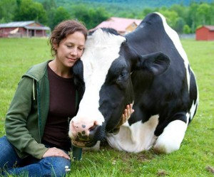 Jenny Brown at Woodstock Farm Animal Sanctuary