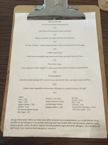 100% vegan menu at Veg Bar.