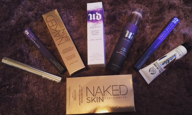 Urban Decay and The Body Shop purchases.